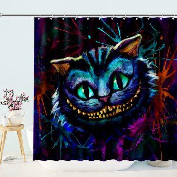 Magic Wonderland The Cheshire Cat Shower Curtain