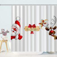 Merry-Christmas-Reindeer-Santa-Shower-Curtain-2