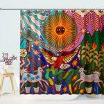 Oaxaca Mexico Mexican Mayan Tribal Art Boho Shower Curtain