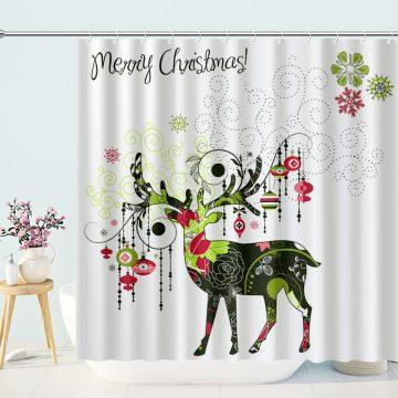 Reindeer Christmas Shower Curtains