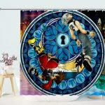 The Sleeping Keyhole Kingdom Hearts Shower Curtains