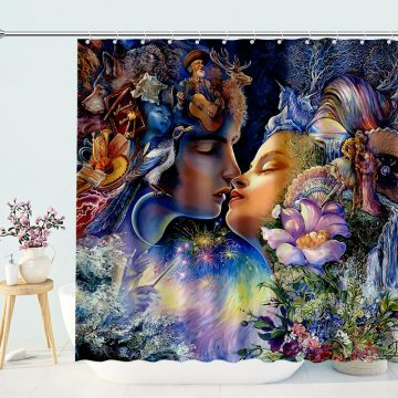 Virgo Woman and Scorpio Man Shower Curtain