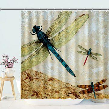 Zen Flight Dragonfly Art Shower Curtain