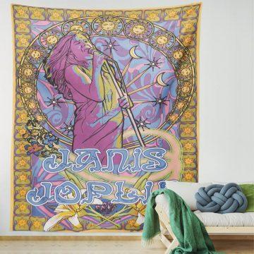 American Wild Rock Female Singer Artistic Tapestry