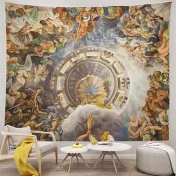 Ancient Greek Mythology Tapestry Gods Giants Battle